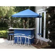 patio bar set with umbrella