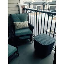 piece resin wicker patio conversation