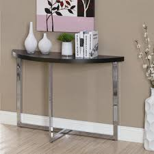 black hallway table. Furniture:Good Looking Half Moon Entry Table Hallway Tables Lowes Canada Cappuccino Finish Console Sofa Black