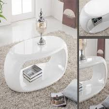 straas curved high gloss coffee table in white modern ideas