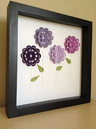 purple flowers 3d paper art personalized with your desired name on 3d paper flower shadow box wall art with 74 best 3d art images on pinterest bricolage crafts and creativity