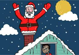 Santa Claus On The Roof Download Free Vectors Clipart