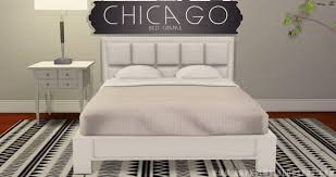 Chicago Bed Frame at Onyx Sims » Sims 4 Updates