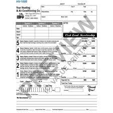 Hvac Flat Rate Invoice Work Order Form Hvac Sticker