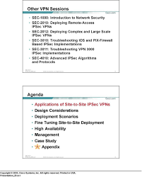 Vpn Design Considerations Deploying Site To Site Ipsec Vpns Pdf Free Download