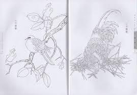 9787534434679 白描 禽鳥 中国画技法 大人の塗り絵 花鳥塗り絵 水墨画