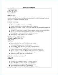 Sample Of A Registered Nurse Resume Resume Example