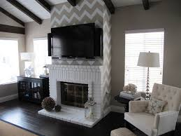 chevron stenciled wall
