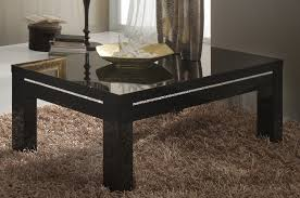 Table Basse Design Rectangle Noire