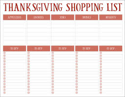 Thanksgiving Grocery List Template Thanksgiving Grocery List Template Atlas Opencertificates Co