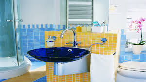 Pictures Of Yellow Bathrooms Attachment Blue And Yellow Bathroom Ideas 1165 Diabelcissokho
