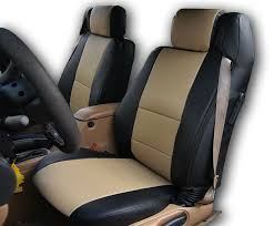 chrysler sebring convertible black beige iggee s leather custom seat cover