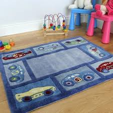 racing car boy ff modern kids rug straight play mat canadian tire kid s blue