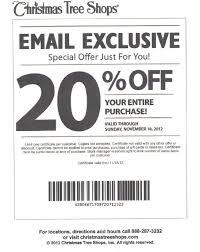 Christmas Tree Shops: 20% off Printable Coupon
