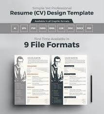 Awesome Collection Of Graphic Resume Templates Great 14 New Resume