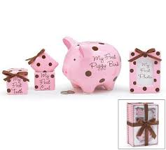 4 piece money banks baby gift set piggy bank first curl tooth photo frame ebay