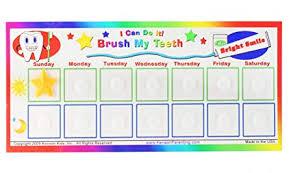 Teeth Brushing Chart I Can Do It Reward Chart Brush My Teeth