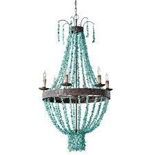 turquoise chandelier lighting. Regina Andrew Design Lighting Beaded Turquoise Chandelier