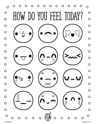 Small Picture Feelings Free Printable Coloring Page Emojis Free printable and