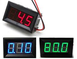 usefulldata com digital dc voltmeter 0 100v from green blue red digital voltmeter from