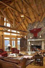 Rustic Interior Design Rustic House Interior Living Room High Ceiling With Exposed Wooden