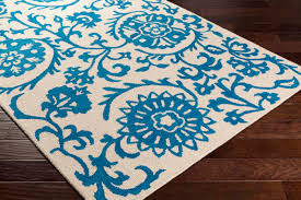 artistic weavers rhodes rds 2314 maggie royal blue off white rug