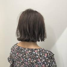 切りっぱなしボブグレージュ Instagramにもヘアスタイル載せてます
