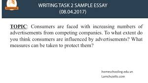 ielts writing task sample essay l atilde m ch aacute brvbar ielts increasing numbers of advertisements from competing companies