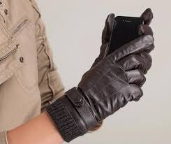 kursheuel men gloves nappa leather long fleece lined leather gloves with 3 lines ku 015