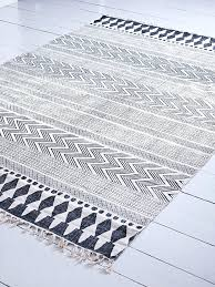 black and white rug patterns. Brilliant And Black And White Tribal Rug Woven From A Cotton Polyester Blend Our  Block Print   In Black And White Rug Patterns