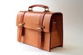 schlesinger brothers saddle leather briefcase vintage attache hard case tan presto key
