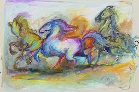 running free an artrage ipad painting