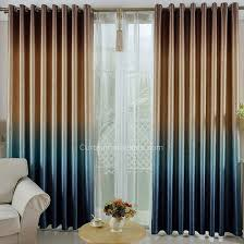 brown blackout curtains. Brown And Blue Gradient Color Cool Thick Polyester Blackout Thermal Curtains 1