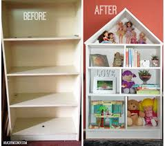 DIY: Dollhouse Bookcase (From An Old Bookcase) This is what you would do