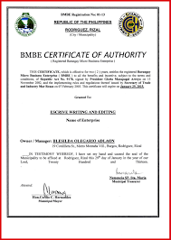 What Is A Certificate Of Authority 123805 Certification Letter