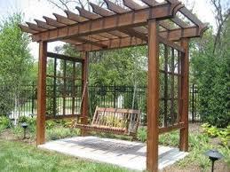 grape arbors designs | grape trellis with bench | Swing Arbor Design Ideas,  Pictures,