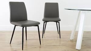 modern dining chair real leather