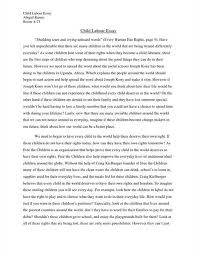 essay writing on child labour top quality homework and essay on child labour a social evil hospital st perth research paper art critical studies