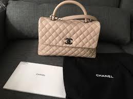 chanel kelly bag. chanel beige caviar medium coco handle kelly flap bag ruthenium hardware nwot l