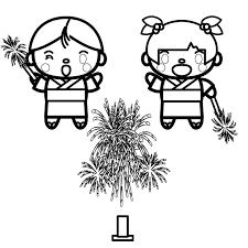 かわいい夏の花火の無料イラスト商用フリー オイデ43