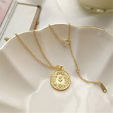 Gold Coin Pendant Designs Womens Vintage Gold Coin Pendant Long Clavicle Chain