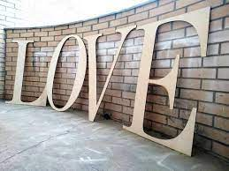 large wooden love letters extra large