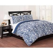 east end living vintage paisley 3 piece bedding duvet set blue com