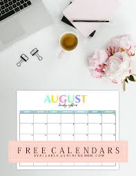 free printable 2018 calendar pretty and colorful