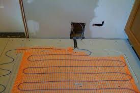 cork flooring for basement heated tile floor best tile floor heating system on floor with how to install heated tile bathroom heated floor under tile