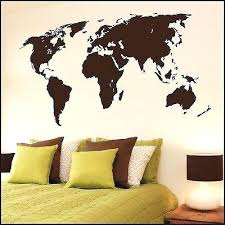 Details About Large World Map Wall Sticker Decal Mural Home