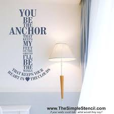 you be the anchor that keeps my feet on ground ocean themed wall decals nursery newest