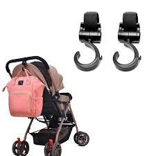 <b>2 PCS LOT Baby Stroller Hook</b> Multifunction Baby Stroller Black ...