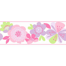Flower Wall Paper Border Cool Kids Ks2225b Large Floral Wall Covering Border Wallpaper