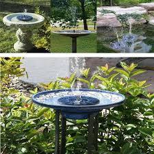 garden patio decor solar power pump